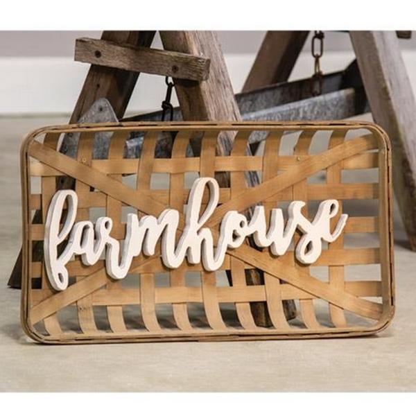 Farmhouse Tobacco Wall Basket