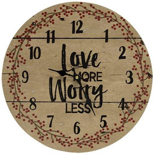 Love More, Worry Less Clock