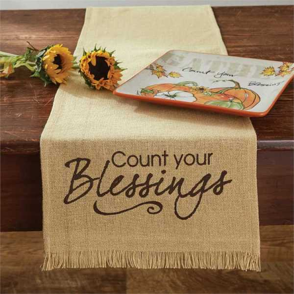 Count Blessings Print Table Runner