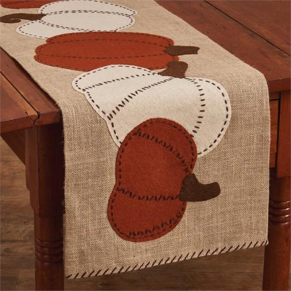Pumpkin Patch Felt Table Runner