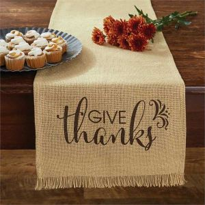 Give Thanks Table Runner