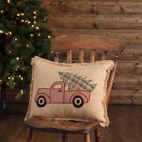 Clement Applique Truck Pillow