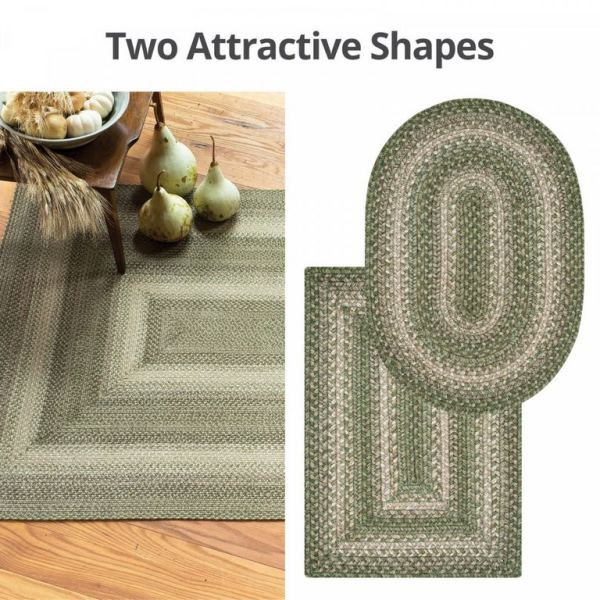 Grassland Green Jute Braided Rugs by Homespice