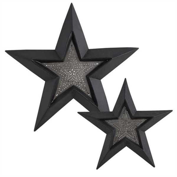 Punched Stars Set Wall Art