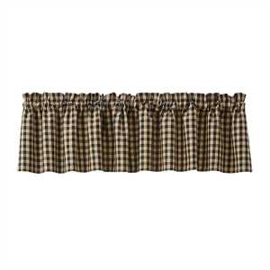 Berry Gingham Lined Valance