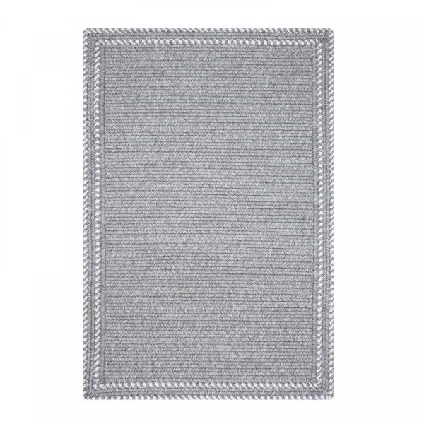 Kensington Horizon Grey Ultra Durable Braided Rugs by Homespice Decor