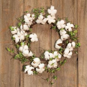 Cotton & Willow Leaves Wreath