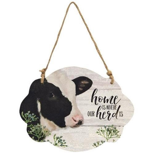 Home is Where our Herd is Cow Wall Hanger