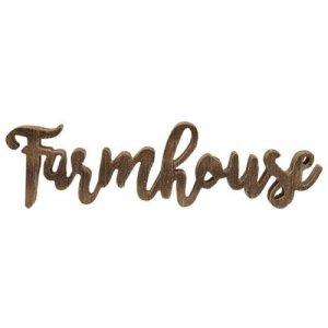 Script Farmhouse Freestanding Wooden Word