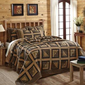 Brockton Cabin Black King Quilt by VHC Brands