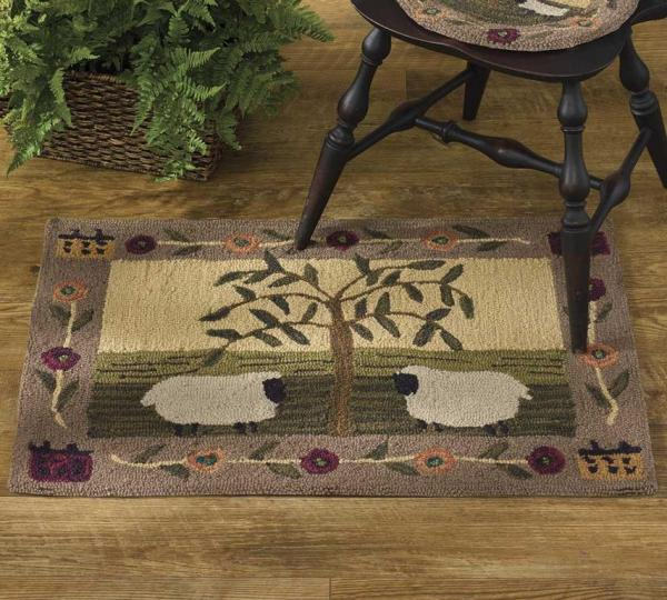 Willow & Sheep Hooked Rugs