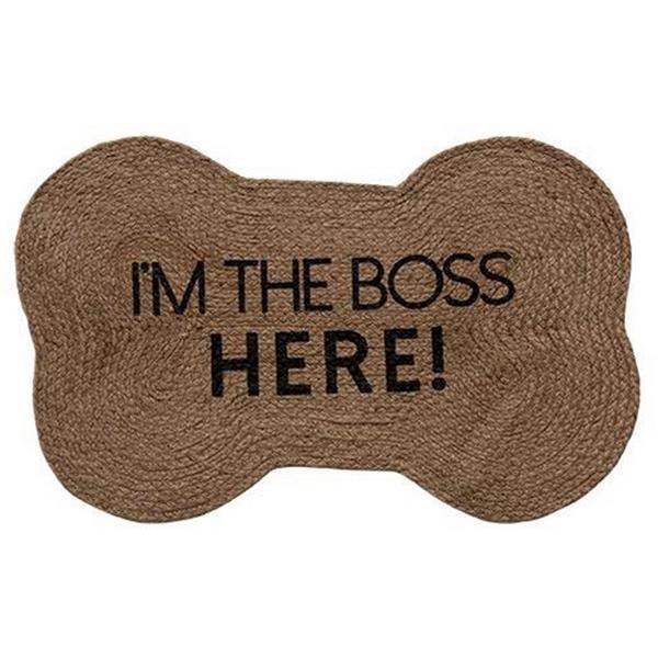 I'm the Boss Dog Bone Rug
