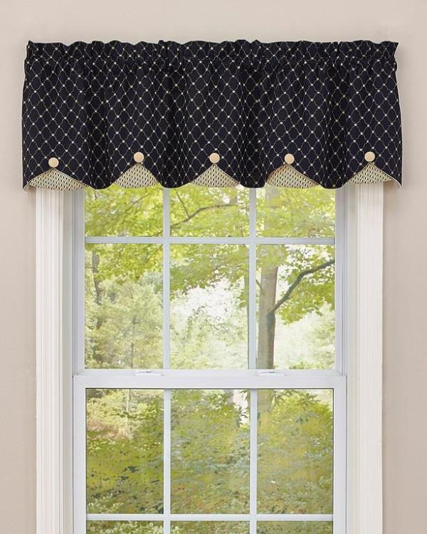 Carrington LIned Scalloped Valance