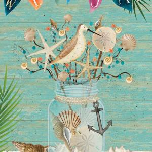 Coastal Mason Jar Garden Flag