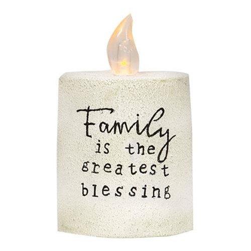 Family Treasure White Cement Timer Pillar