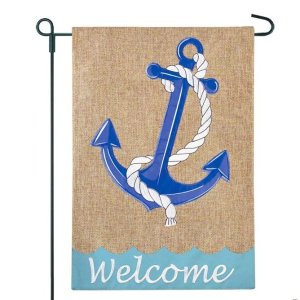Anchor Rope Welcome Flag