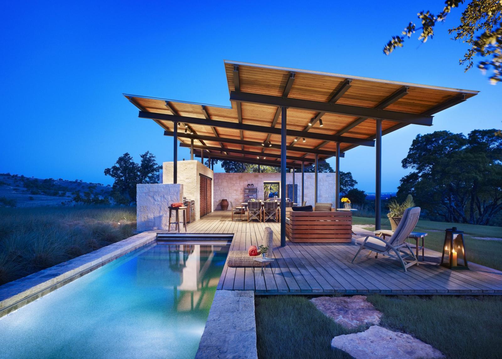 Story Pool House Lake Flato