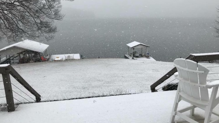 Lake Gaston Snow….