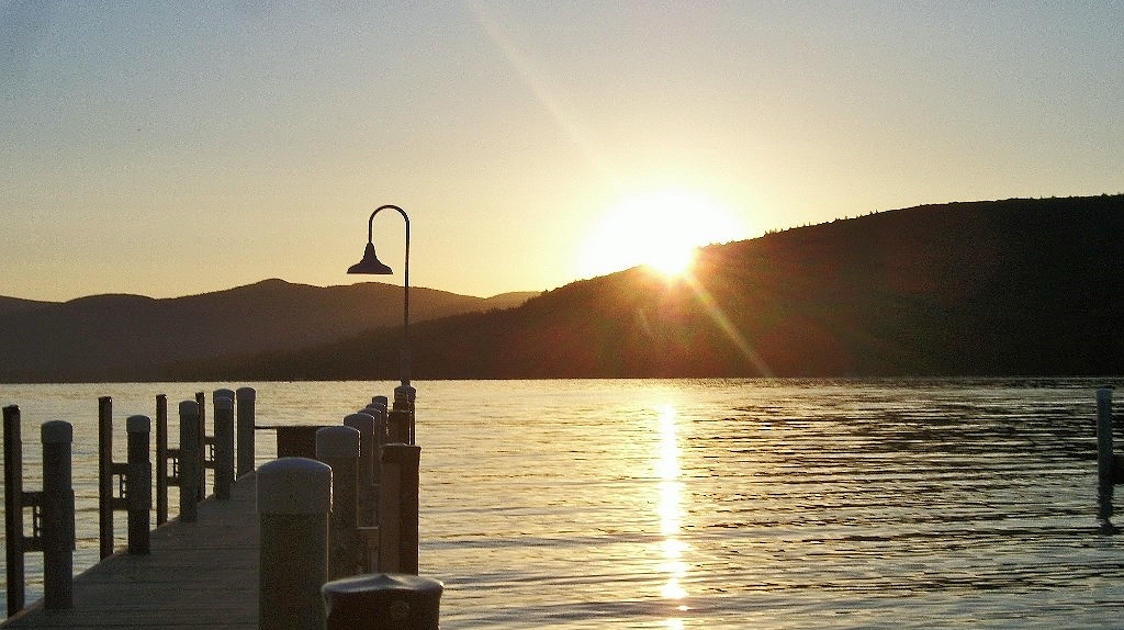 sunrise over Lake George
