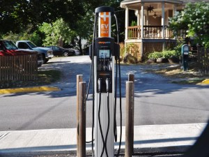 lake George Village parking EV charger