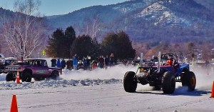 4x4 ice drags on Lake Goerge