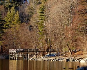 New fishing pier on Lake Glenville NC