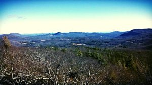 View of mountain ranges from top of Yellow Mountain, Cashiers, NC