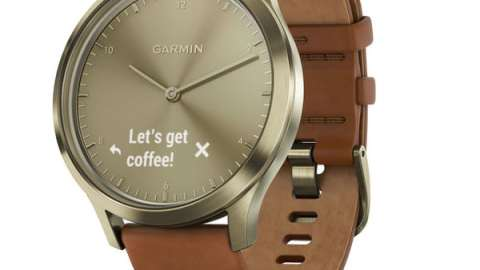 Gold with Light Brown Leather Band