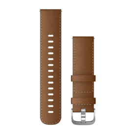 Brown Italian Leather with Silver Hardware