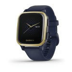 Light Gold Aluminum Bezel with Navy Case and Silicone Band