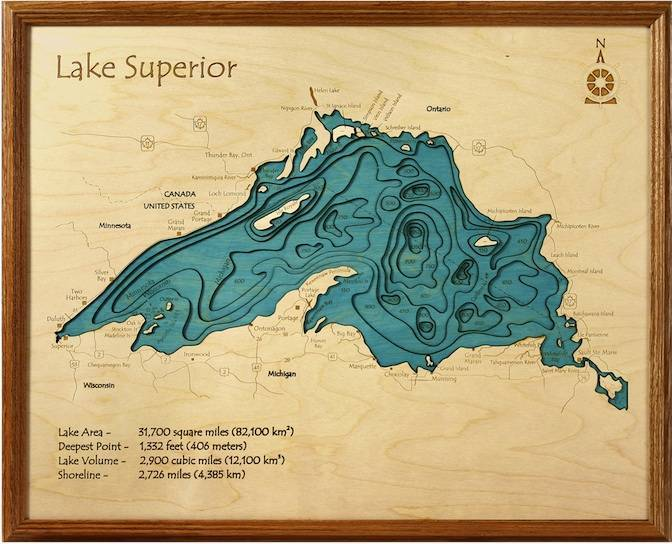 Lake Superior Topography