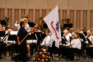 U.S. Army flag at Lakeland Concert Band's veterans' salute concert