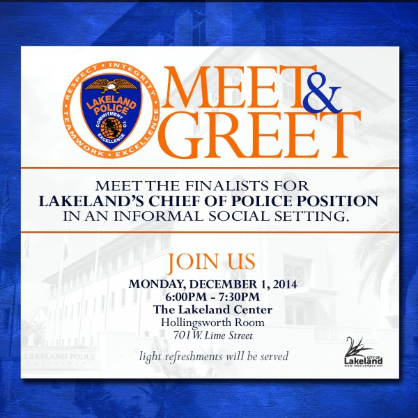 Meet & Greet With Lakeland Police Chief Finalists