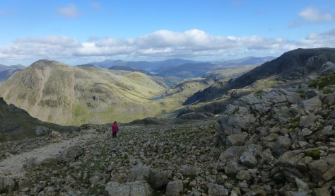 Great Gable and Styhead from Lingmell Col
