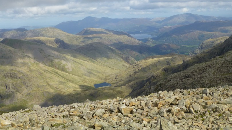 Styhead from Scafell Pike summit