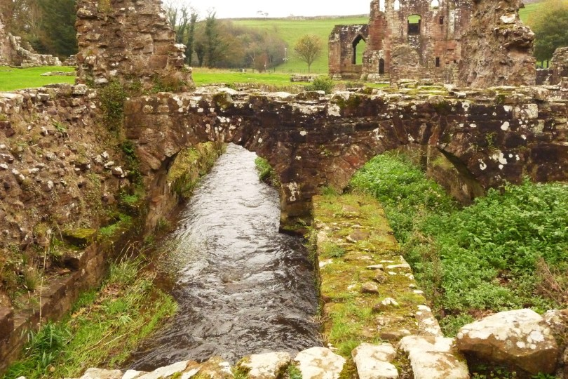 Furness Abbey built over Bekan's Ghyll