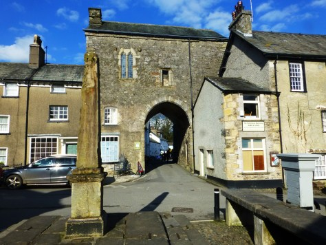 Cartmel Gatehouse, Market Cross and Fish Slabs