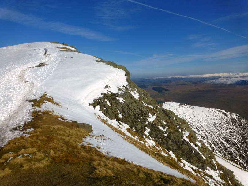 Blencathra Summit from Knowe Crags