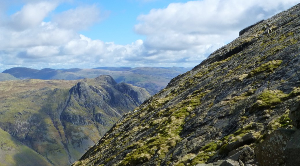 Langdale Pikes across the Great Slab