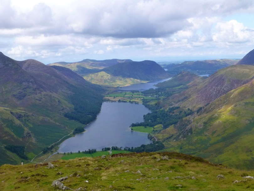 Buttermere and Crummock Water from Fleetwith Pike