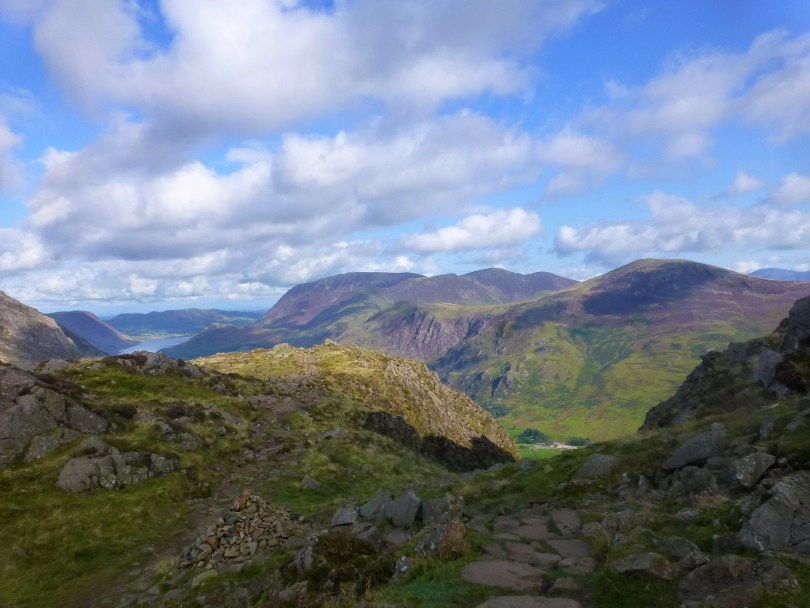Looking back from the ascent of Haystacks