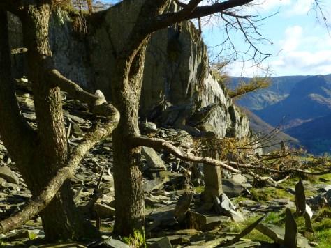 Castle Crag summit quarry