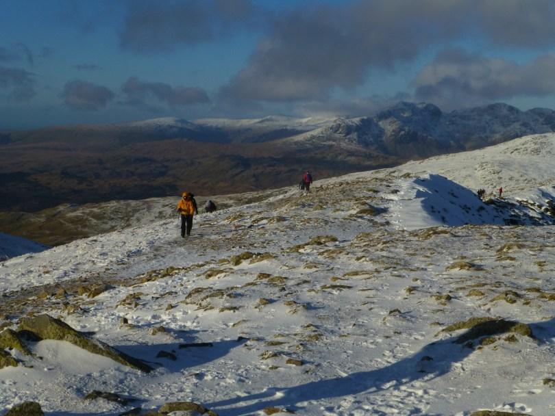 Coniston Fells ridge - Scafells behind