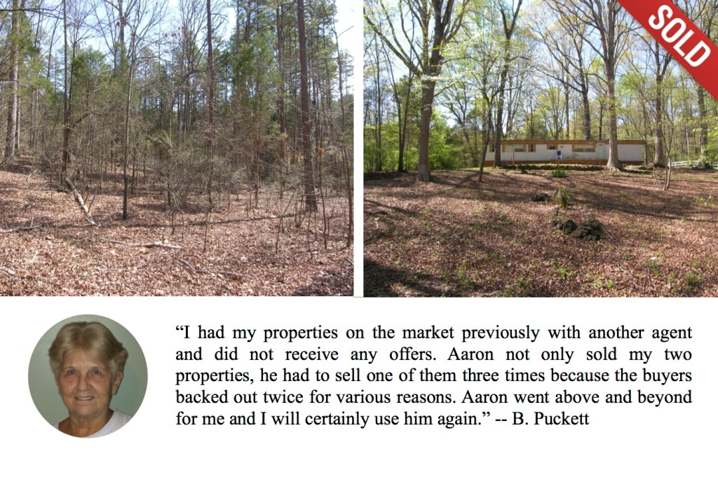 Acreage in Huntersville NC Sold by The Marshall Team