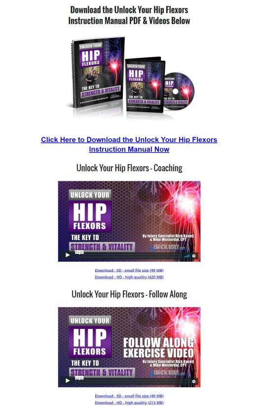 Unlock Your Hip Flexors Download Page
