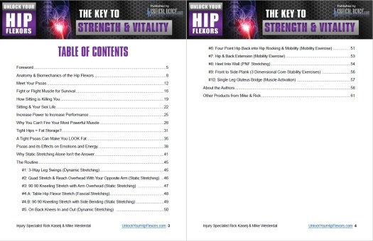 Unlock Your Hip Flexors' Table of Contents