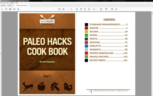 PaleoHacks Cookbook Table of Contents