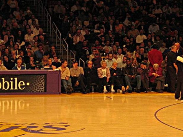 Graphic: LA Lakers celebrity fans seating chart