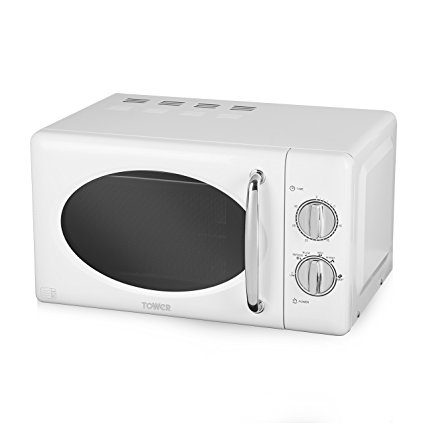 tower manual microwave with stainless steel interior 20 l white