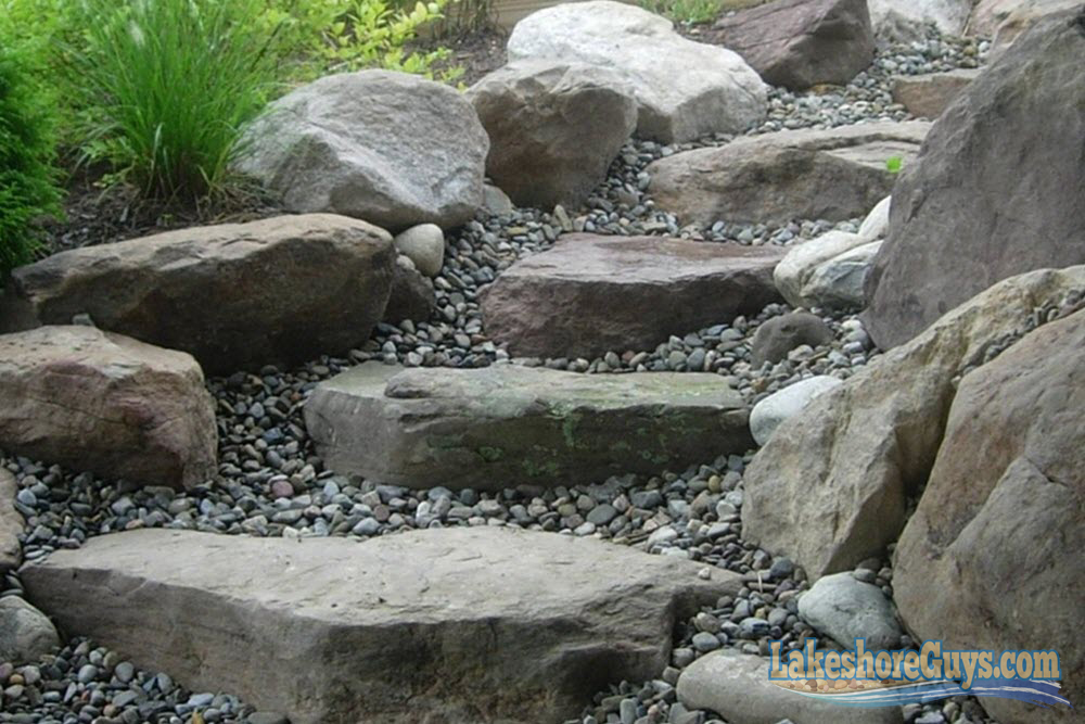 Decorative Boulders Garden